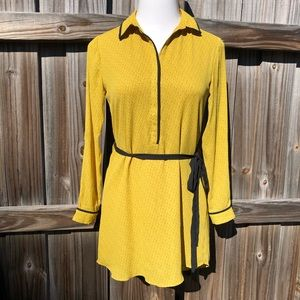 LOFT Mustard Shirtdress